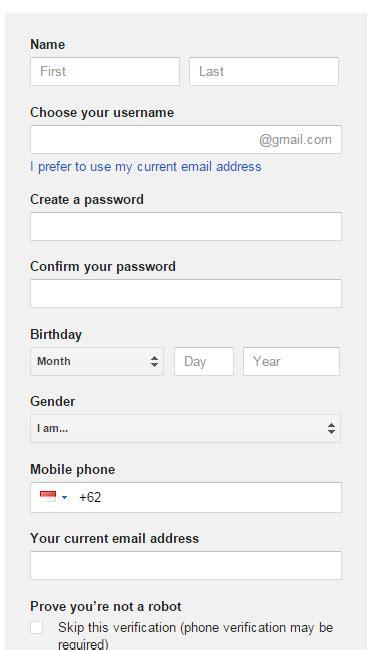 cara membuat email gmail tanpa nomor telepon cara membuat email google gmail tanpa verifikasi nomor