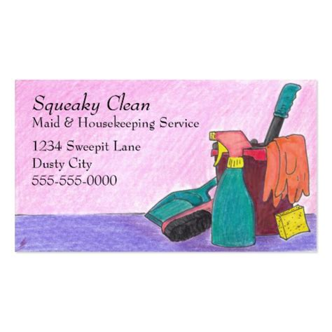 Housekeeping Business Cards Sles housekeeping business cards zazzle