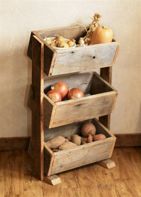 Rustic Shelving with Ample Storage for All Your Potatoes