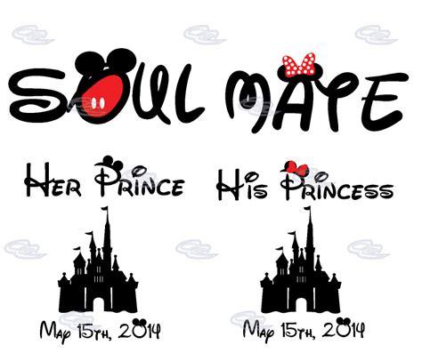 Fashion Baju Lp Soul Mate mickey minnie mouse matching soulmate shirts his princess