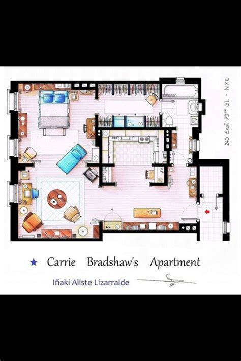carrie bradshaw apartment floor plan 11 best images about sex and the city on pinterest