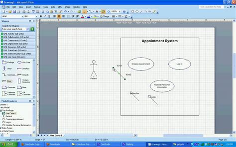 visio for uml uml model diagram template visio