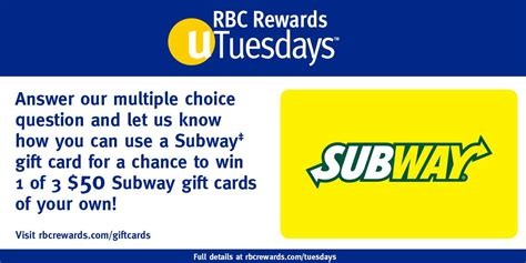 Rbc Gift Cards - subway search results canadian freebies coupons deals bargains flyers