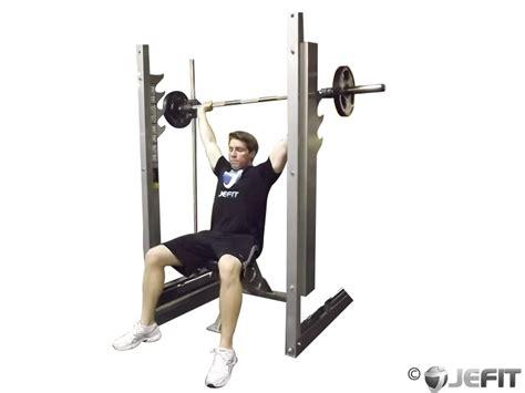 neck bench press smith machine shoulder press behind the neck exercise