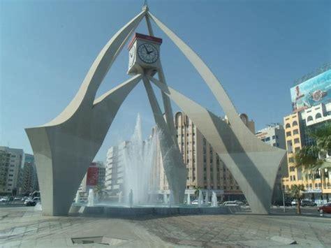 clock tower roundabout  dubai united arab emirates