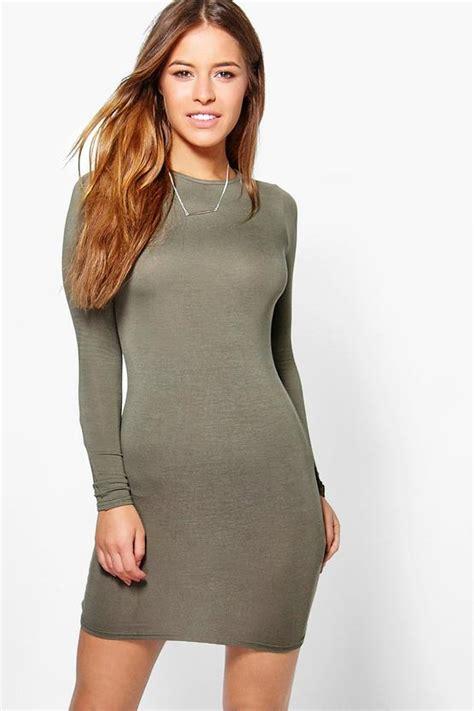 Fvr Basic Mini Dress liz basic sleeve mini bodycon dress boohoo
