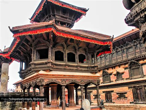Pashupatinath temple in Bhaktapur Durbar Square   Photograph