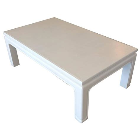 White Karl Springer Style Coffee Table For Sale At 1stdibs White Coffee Table For Sale