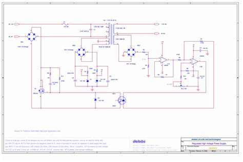 high c supply regulated high voltage power supply electronics