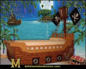 Pirate Ship Wall Mural pirate theme beds pirate ship beds pirate wall murals pirate bedroom