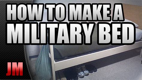 military bed making how to make a military style bed basic training youtube
