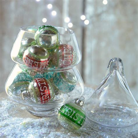glass christmas tree jar by thelittleboysroom