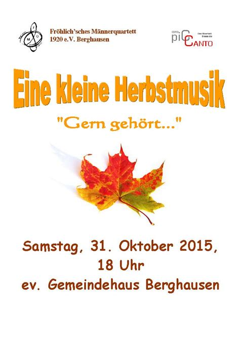 detiknews 31 oktober 2015 konzert am 31 oktober 2015 fr 246 hlich sches m 228 nnerquartett