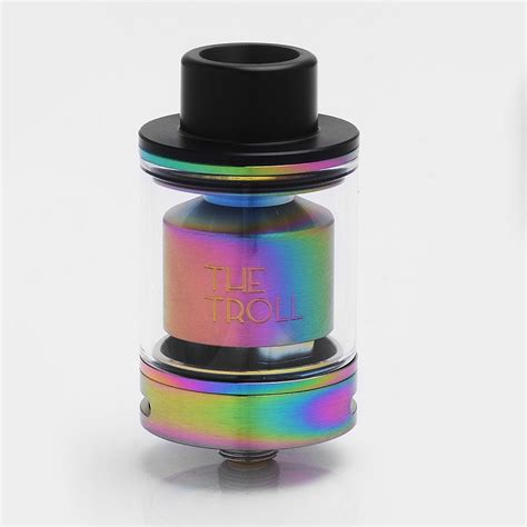 Authnentic Troll Rta Replacement Glass Authentic Wotofo The Troll Rta Rainbow 5ml 24mm