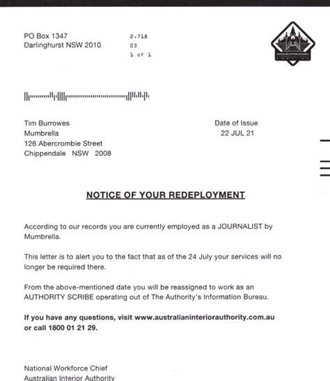 sending spoof redundancy letters journalists pr