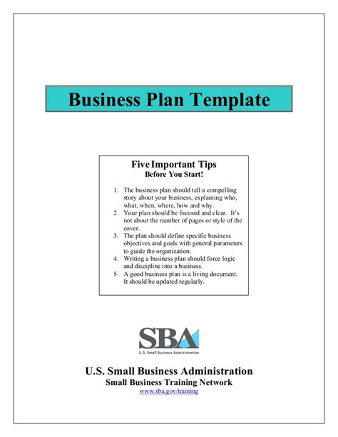 small business business plan template small business plan template