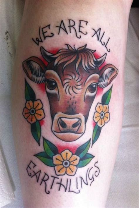 vegan tattoo inspiration we are all earthlings vegan tattoo tattooideaslive vegan