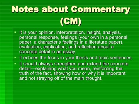 Commentary Essay Sle by What Is A Commentary Essay Gse Bookbinder Co