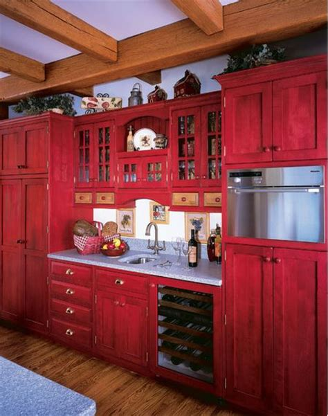 antique red kitchen cabinets kitchen backsplash ideas red picture metal cabinets