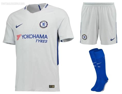 Chelsea Away Jersey 2017 2018 001 chelsea fc 2017 18 nike home and away kits football