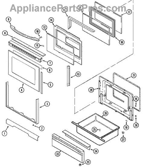 jenn air oven parts diagram parts for jenn air jgr8850ada door drawer parts