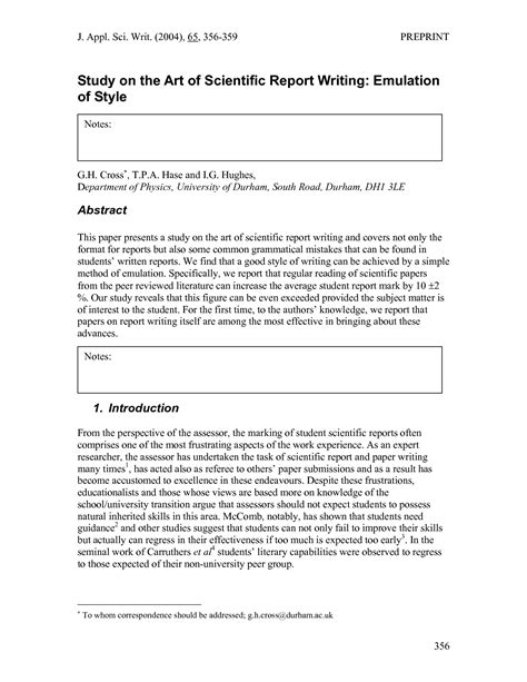 report writing template formal business report