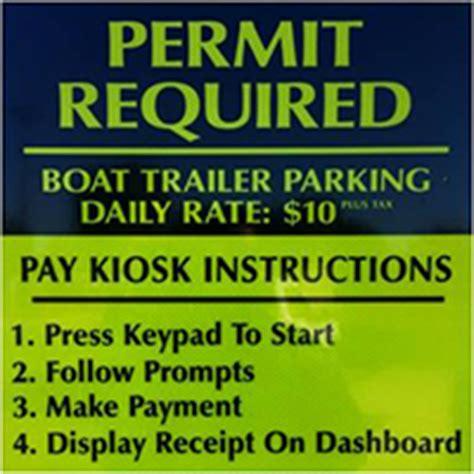 boat trailer permit parks recreation boat trailer parking permit