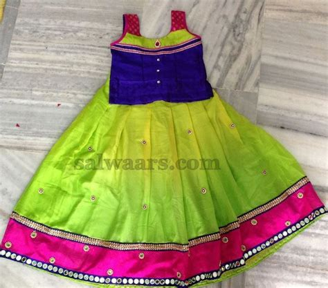 Dress Of The Day B With G Baby Doll Dress by Dual Shade Silk Lehenga Indian Traditional Dresses