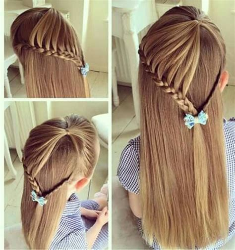 tie back hairstyles half lace braid with simple braid tie back hairstyles