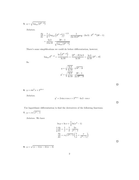 Exponential Equations Worksheet by Lesson 8 Derivatives Of Logarithmic And Exponential