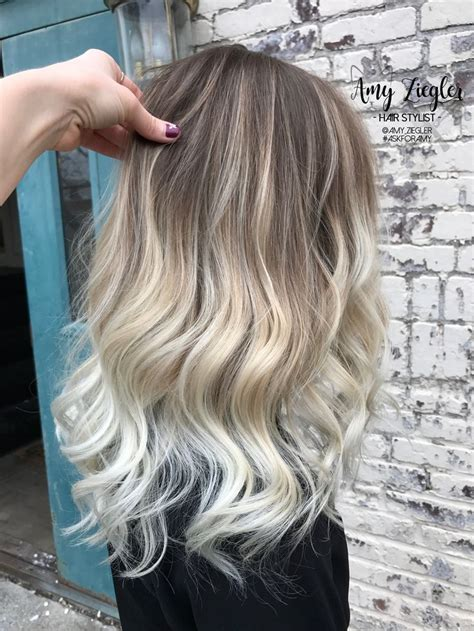 platinum silver blonde balayage platinum blonde balayage ombre with natural root by amy