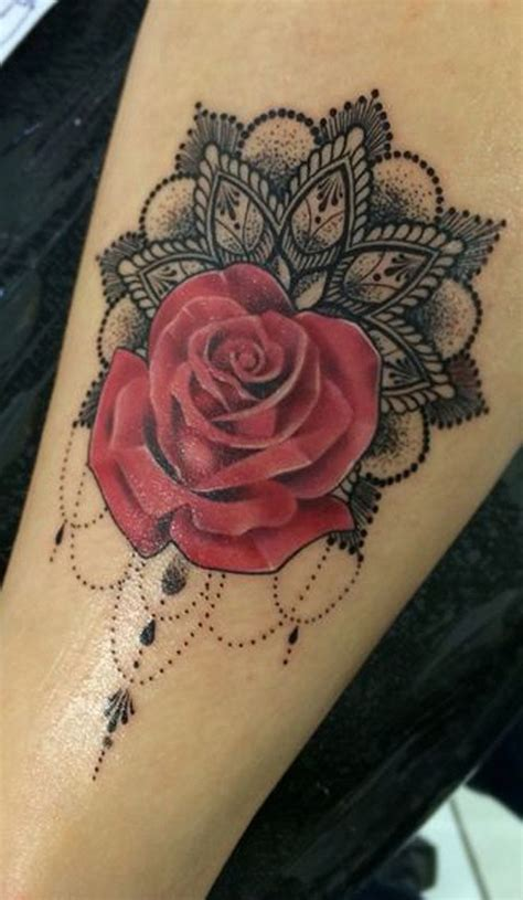 rose and flower tattoos best 25 black lace ideas on lace