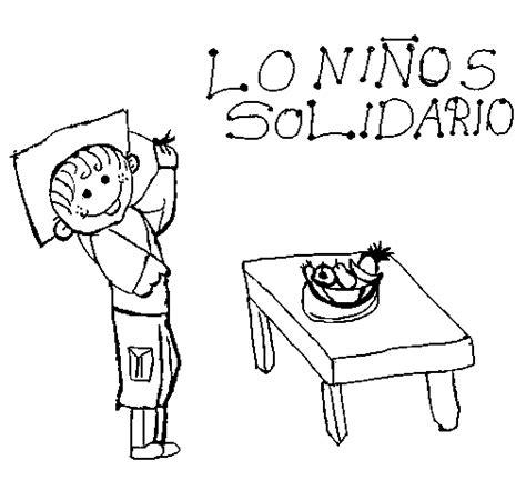imagenes para dibujar sobre la solidaridad desenho de solidariedade para colorir colorir com