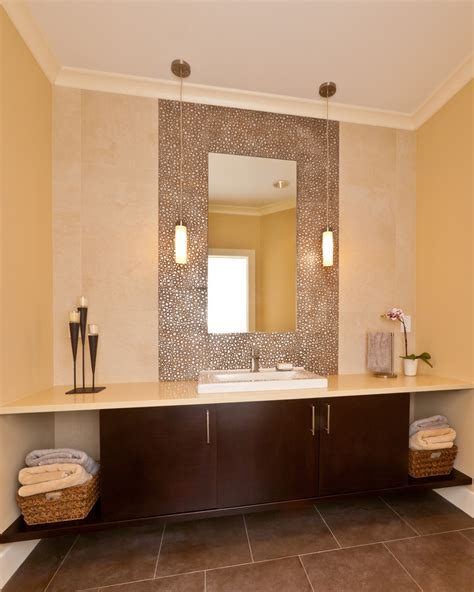 Contemporary Kitchen Wallpaper Ideas bathroom mirrors with lights powder room contemporary with