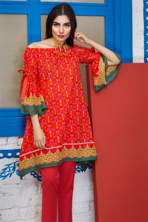 khaadi  red lawn  vol  unstitched
