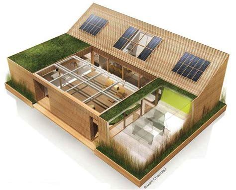 maison avec patio central foire de et maison en bois la cabane au fond du