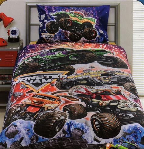 monster jam bedding monster jam trucks grave digger single quilt cover set new