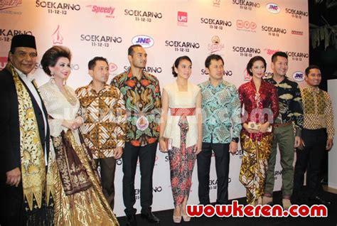 film soekarno pemeran fatmawati foto galeri premiere film soekarno foto 8 dari 19