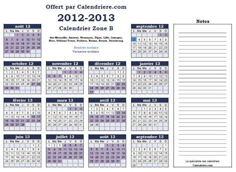 Calendrier Scolaire Zone B Calendrier 2018 Gratuit Imprimer Calendrier Vacances