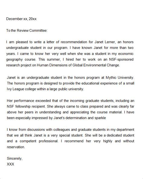 Recommendation Letter For A Prospective Graduate Student Letters Of Recommendation For Graduate School 15 Free Documents In Pdf Word