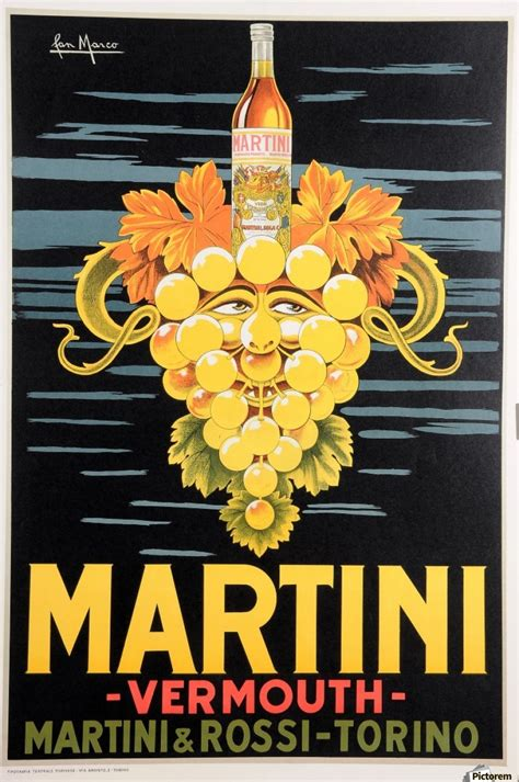 martini poster original vintage poster advertising martini