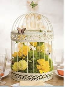 decorating a birdcage for a wedding wedding decorations ivory birdcage