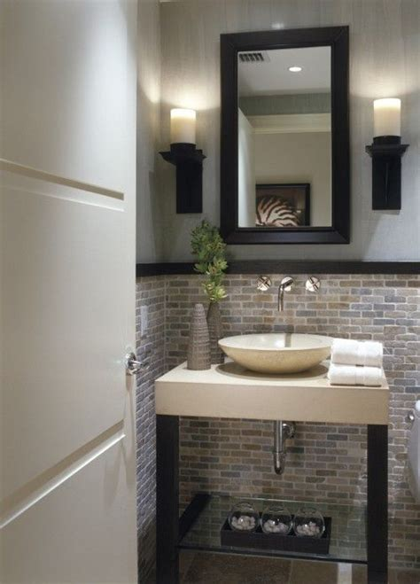 powder room tile powder room tile half way up so pretty this for a