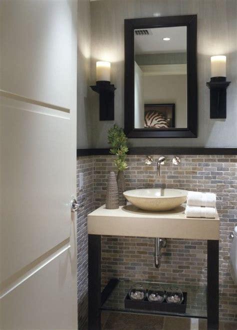pretty bathrooms ideas powder room tile half way up so pretty love this for a
