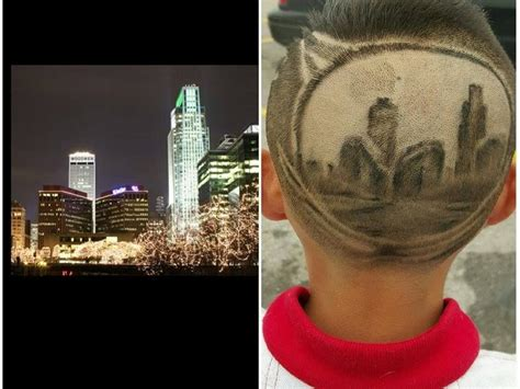 haircuts downtown omaha boy gets omaha skyline buzzed into his hair here s why