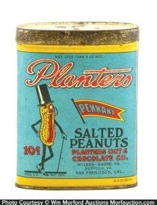 1000 images about vintage planters advertising tin sign