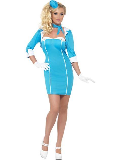 fever ladies air stewardess costume air
