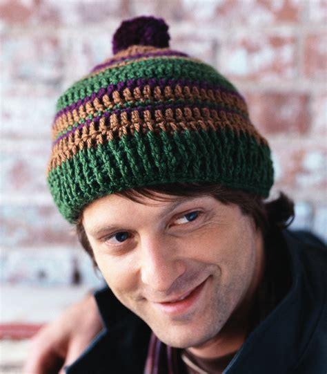 red heart yarn pattern lw2741 retro stripe hat crochet pattern from red heart yarn