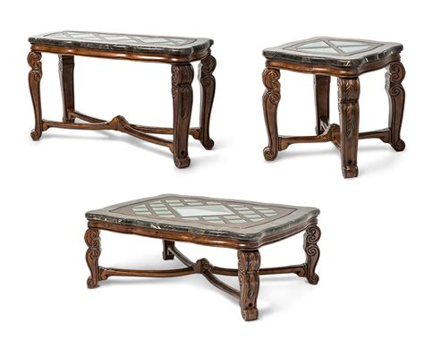 aico coffee table set tuscano ai 342 34