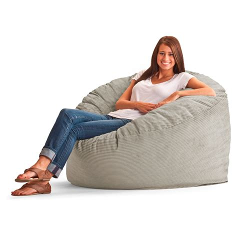 fuf couch fuf 4 ft large wide wale corduroy bean bag lounger bean